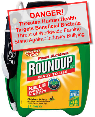 glyphosphate - Roundup poisoning - graphic