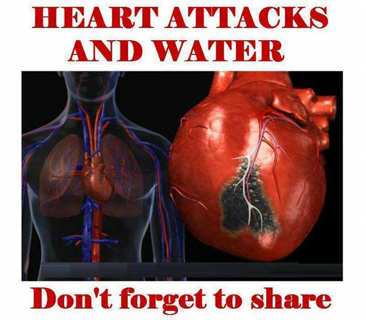 Heart Attacks and Water - SHARE THIS