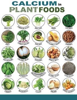 Calcium plant foods