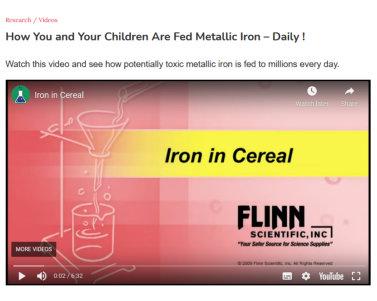 Iron In Breakfast Cereals